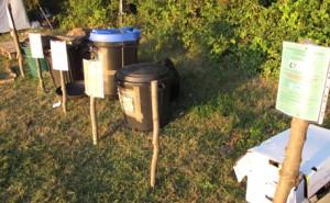 Bacs recyclage dans les camps
