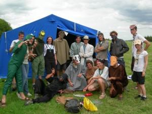 Les chefs de meute grimés en animaux de la Jungle