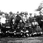 Chefs des 3 mouvements (SDF, EDF, EUF) à la croix St Ouen en 1921